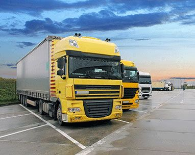 lorries parked in lorry park